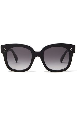 Céline Gradient Lenses Square Acetate Sunglasses - Womens - Black