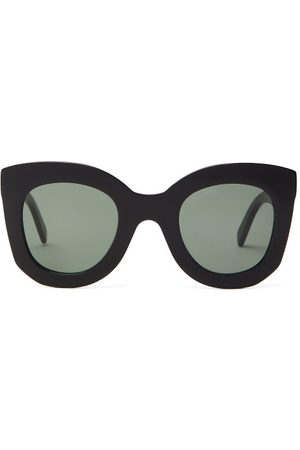 Céline Dames Zonnebrillen - Oversized Round Acetate Sunglasses - Womens - Black