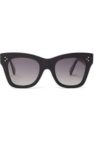 Céline Dames Zonnebrillen - Square Acetate Sunglasses - Womens - Black