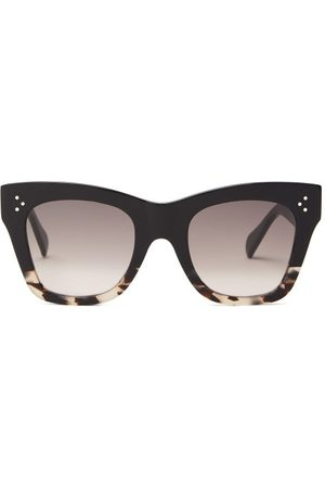 Céline Gradient Square Acetate Sunglasses - Womens - Black Multi