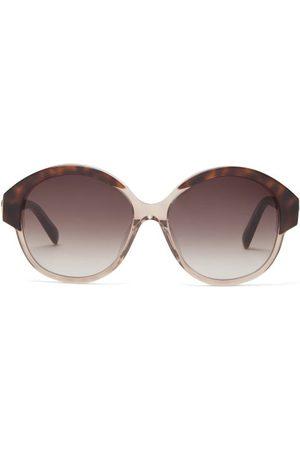 Céline Dames Zonnebrillen - Round Tortoiseshell-acetate Sunglasses - Womens - Tortoiseshell