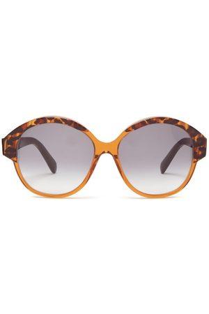 Céline Round Tortoiseshell-effect Acetate Sunglasses - Womens - Tortoiseshell