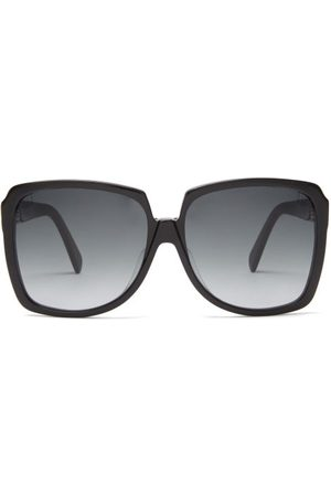 Céline Oversized Square Acetate Sunglasses - Womens - Black