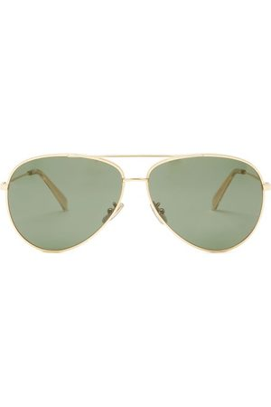 Céline Aviator Acetate Sunglasses - Womens - Dark Green