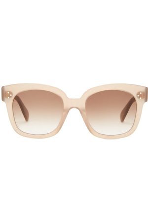 Céline Dames Zonnebrillen - Oversized Round Acetate Sunglasses - Womens - Light Brown