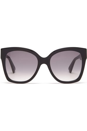 Gucci Oversized Square Acetate Sunglasses - Womens - Black Gold