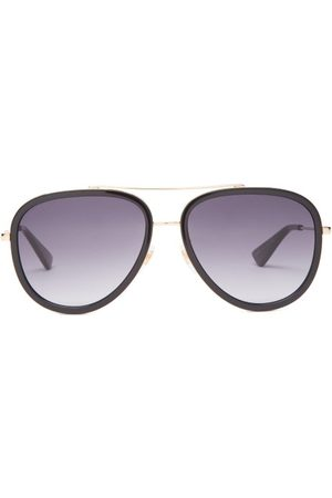 Gucci Dames Zonnebrillen - Aviator Metal Sunglasses - Womens - Grey Gold