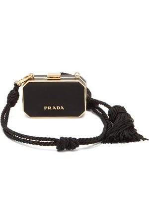 Prada Dames Clutches - Minaudière Rope And Leather Clutch - Womens - Black