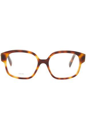 Céline Dames Zonnebrillen - Square-frame Acetate Glasses - Womens - Tortoiseshell