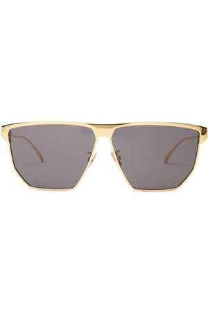Bottega Veneta Dames Zonnebrillen - D-frame Metal Sunglasses - Womens - Gold