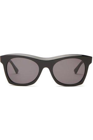 Bottega Veneta Dames Zonnebrillen - Square Acetate Sunglasses - Womens - Black Grey