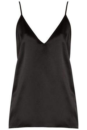 Raey V-neck Silk-satin Cami Top - Womens - Black
