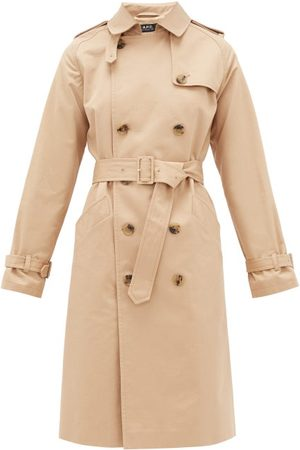 A.P.C Dames Trenchcoats - Greta Cotton-twill Trench Coat - Womens