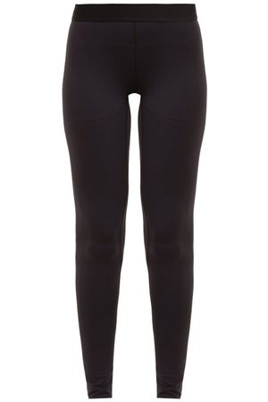 Raey Contrast-waistband Leggings - Womens - Navy