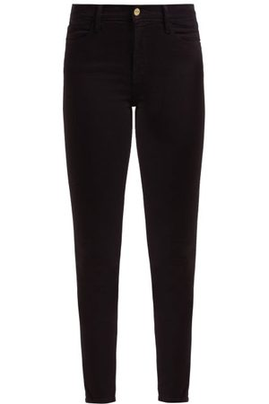 Frame Le High High-rise Skinny-leg Jeans - Womens - Black