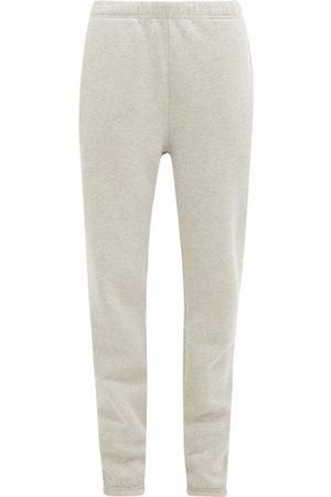 Les Tien Brushed-back Cotton-jersey Track Pants - Womens - Grey