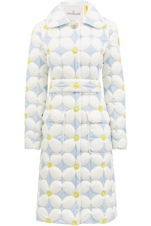 Moncler Genius Candice Daisy Down-quilted Shell Coat - Womens - Blue White