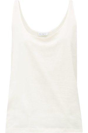 Raey Skinny-strap Cotton-jersey Vest - Womens - Pale Pink