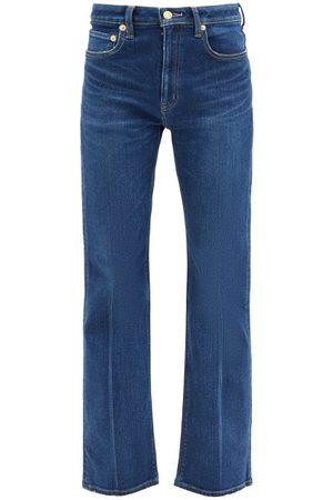 TU ES MON TRESOR Amethyst Mid-rise Wide-leg Jeans - Womens - Dark Denim