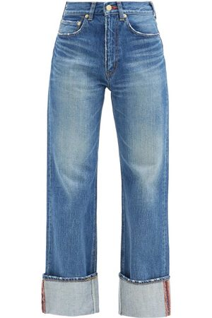 TU ES MON TRESOR Carnelian High-rise Turn-up Cuff Jeans - Womens - Denim