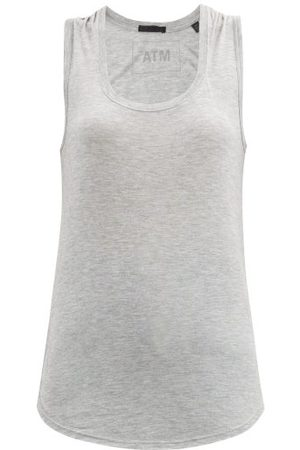 ATM Anthony Thomas Melillo Scoop-neck Jersey Tank Top - Womens - Grey