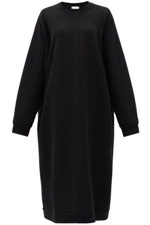 Raey Dames Casual jurken - Organic And Recycled-yarn Sweatshirt Dress - Womens - Black