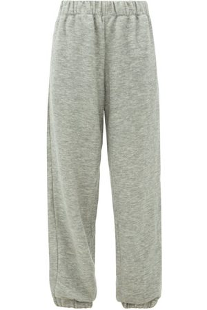 Raey Elasticated-waist Cashmere-blend Track Pants - Womens - Grey Marl