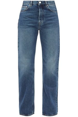 Totême Ease Mid-rise Straight-leg Jeans - Womens - Denim