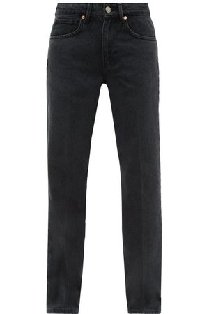 Raey Dames Straight - Push Straight-leg Jeans - Womens - Black