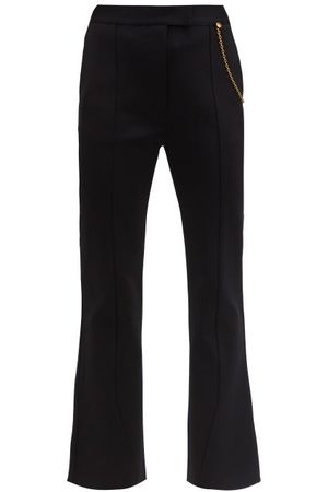 Givenchy Chain-embellished Kick-flare Trousers - Womens - Black