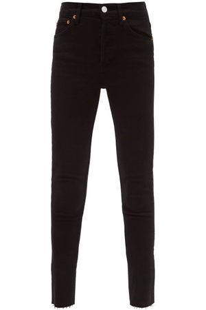 RE/DONE High-rise Cropped Jeans - Womens - Black