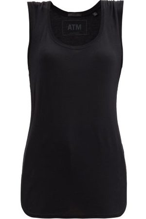 ATM Anthony Thomas Melillo Scoop-neck Jersey Tank Top - Womens - Black