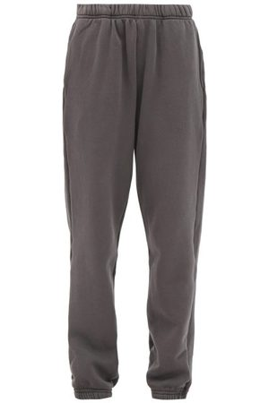 Les Tien Dames Joggingbroeken - Brushed-back Cotton Track Pants - Womens - Dark Grey