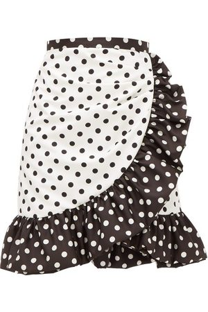 RODARTE Ruffled Polka-dot Skirt - Womens - White Black