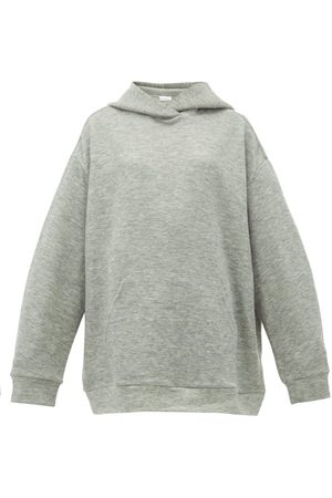 Raey Oversized Cashmere-blend Hooded Sweatshirt - Womens - Grey Marl