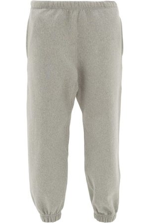 Raey Dames Joggingbroeken - Organic And Recycled-yarn Cotton-blend Track Pants - Womens - Grey Marl