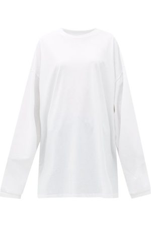 Raey Oversized Recycled-yarn Cotton-blend T-shirt - Womens - White