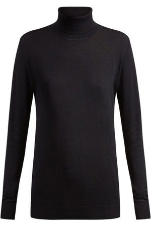 Raey Dames Sweaters - Roll-neck Fine-knit Cashmere Sweater - Womens - Navy