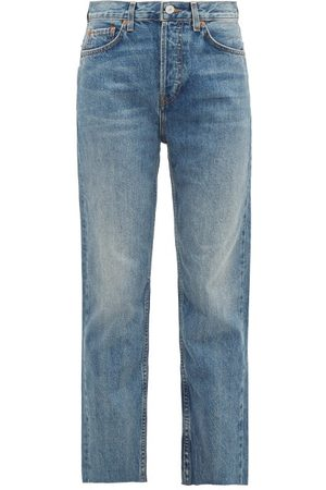 Re/Done Rigid Stove Pipe High-rise Straight-leg Jeans - Womens - Denim