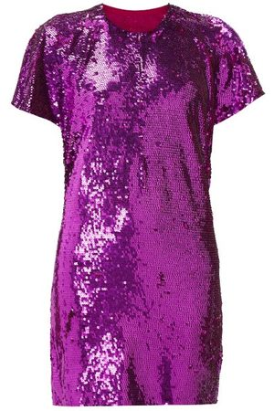 ASHISH Dames Glitterjurken - Cutout-back Sequinned Mini Dress - Womens - Pink