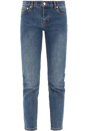 A.P.C Dames Skinny - Etroit Court Low-rise Skinny-leg Jeans - Womens - Denim