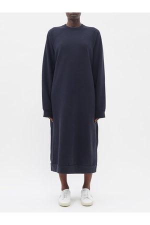 Raey Organic And Recycled-yarn Sweatshirt Dress - Womens - Navy