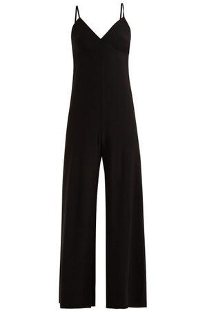 Norma Kamali Core Wide-leg Jumpsuit - Womens - Black