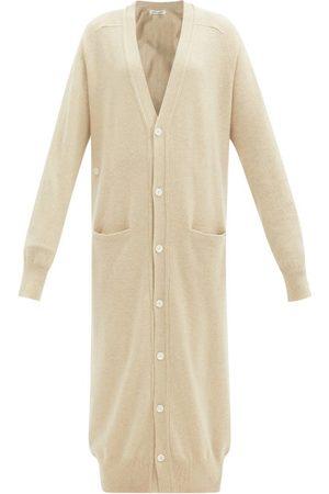 EXTREME CASHMERE Coco Stretch-cashmere Longline Cardigan - Womens - Cream