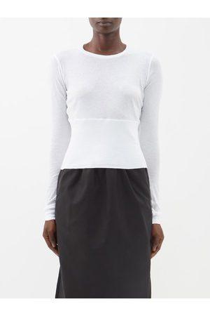 WARDROBE.NYC Wardrobe. nyc - Release 06 Panelled Cotton-jersey T-shirt - Womens - White