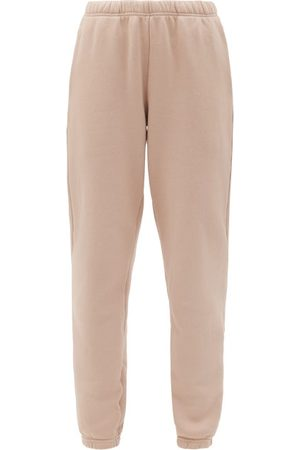 Les Tien Brushed-back Cotton Track Pants - Womens - Light Pink