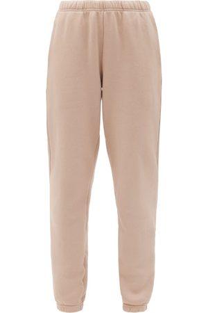 Les Tien Dames Joggingbroeken - Brushed-back Cotton Track Pants - Womens - Light Pink