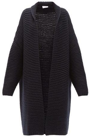 Raey Dames Cardigans - Oversized Chunky-knit Cashmere Cardigan - Womens - Navy