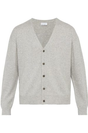 Raey Loose-fit Cashmere Cardigan - Mens - Grey Marl
