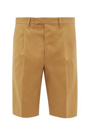 Prada Cotton-twill Chino Shorts - Mens - Camel